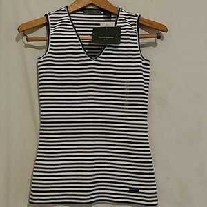 NWT Petite Liz Claiborne Stripped Shirt Top sz P